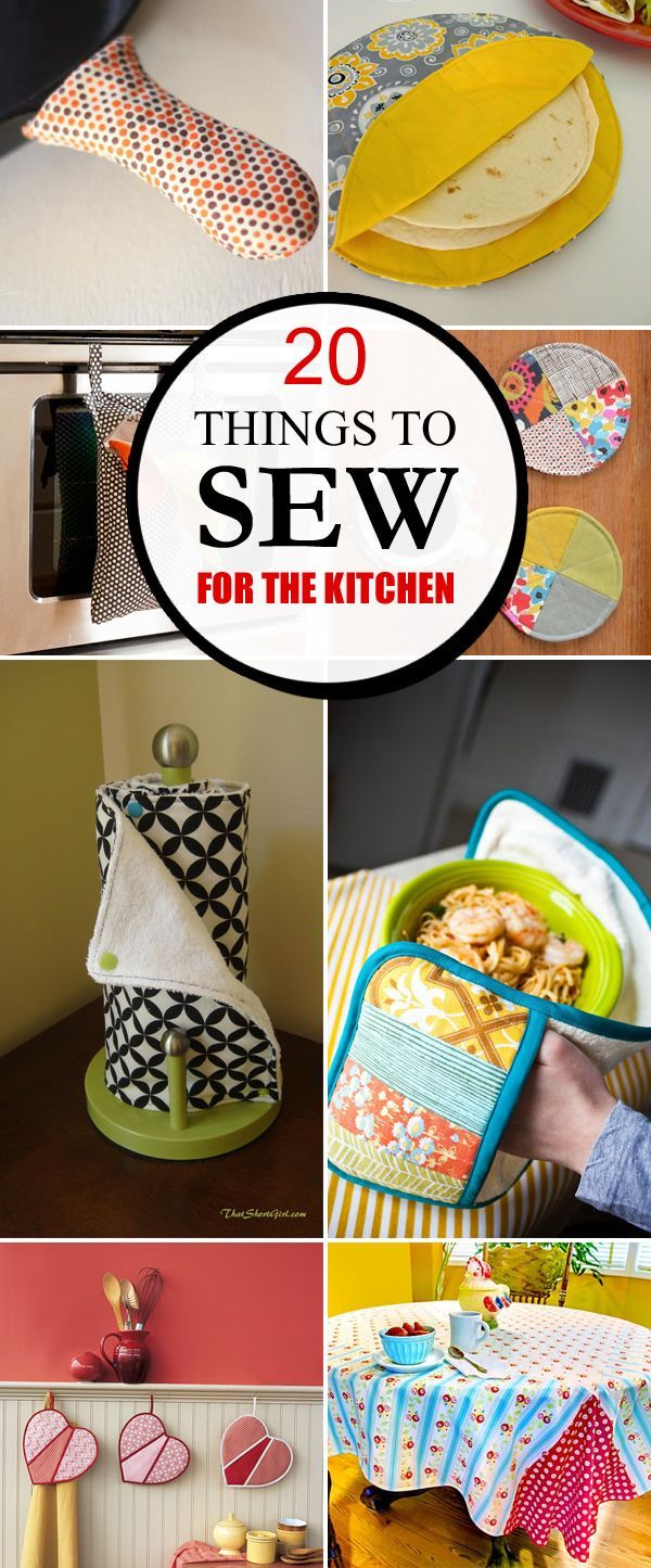 20 Pretty And Practical Things To Sew For The Kitchen Beginner Sewing Projects Easy Easy Sewing Projects Sewing Projects For Beginners