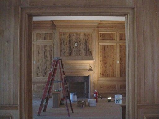 Pecky cypress paneling- yes please!