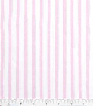 Nursery baby basic fabric stripe pink grace elizabeth for Pink nursery fabric