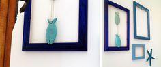 quadretti fai da te tema mare #DIY #summertime #homedecor #IKEA #MaisonduMonde
