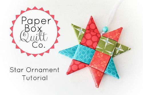 Fabric star tutorial from Paper Box Quilts