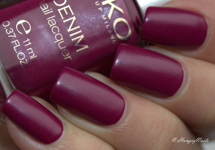 Kiko Denim nail lacquer 462 Tribal Purple