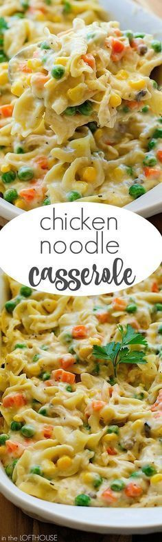 This Chicken Noodle Casserole has all the elements of the classic, comforting soup and more! It is positively perfect to serve whenever you're in need of some yummy comfort food without a lot of fuss.