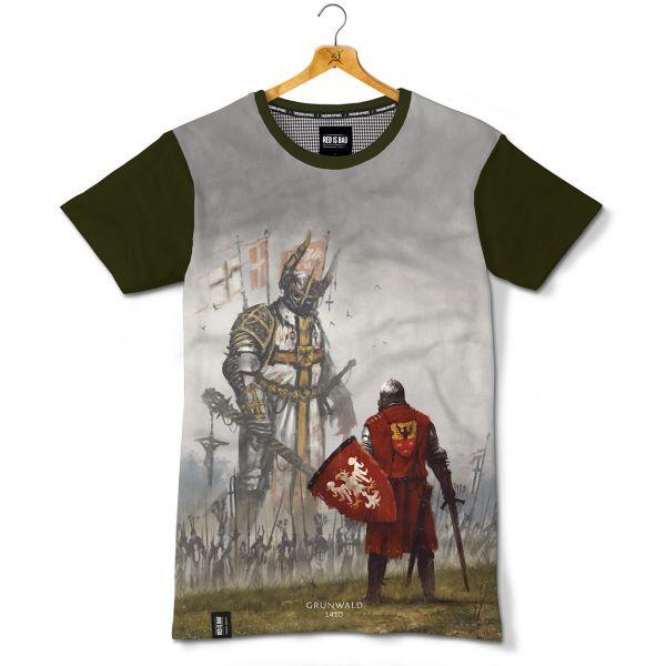 Koszulka patriotyczna Grunwald 1410. Nadruk sublimacyjny - odzież patriotyczna, koszulki męskie Red is Bad