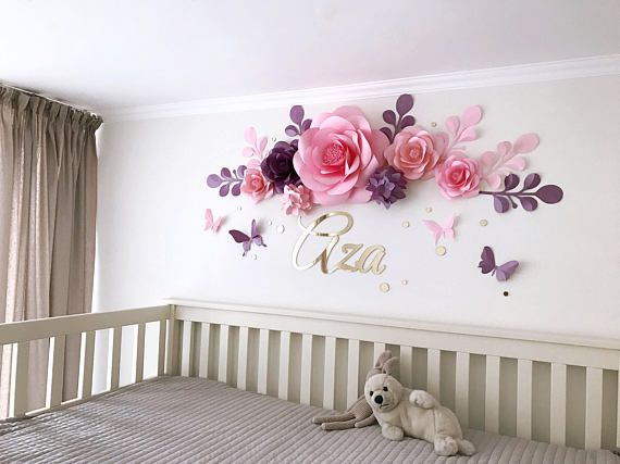 Nursery Paper Flowers Paper Flowers Over The Crib Baby Girl