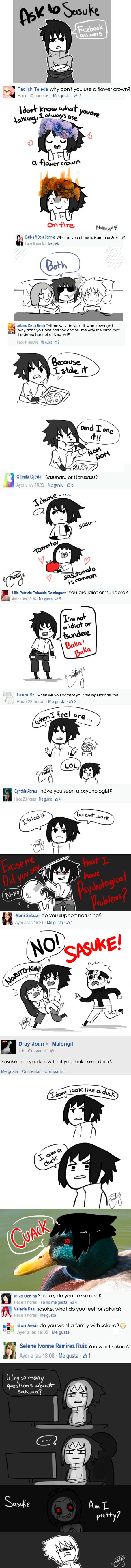 Ask to Sasuki facebook answers by malengil on DeviantArt