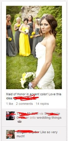 hilarious blog post about all the stupid wedding pins. :)
