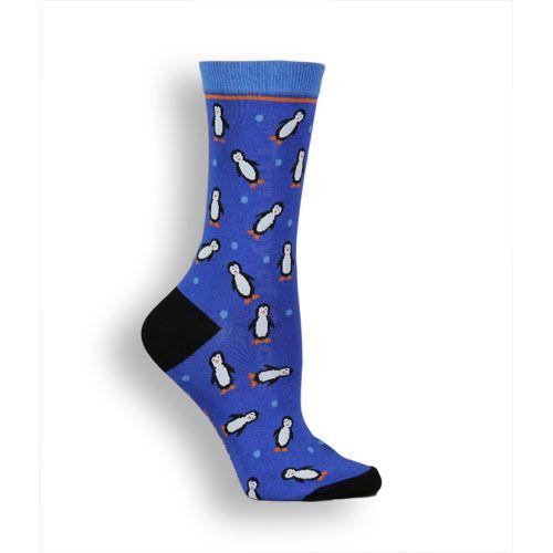 The Joy of Socks -  Hurray For Penguins Socks (Women's), $7.50 (http://www.joyofsocks.com/hurray-for-penguins-socks-womens/)