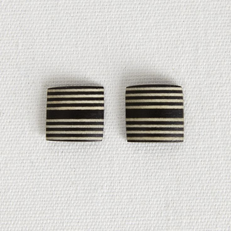 Thick and Thin Striped Studs