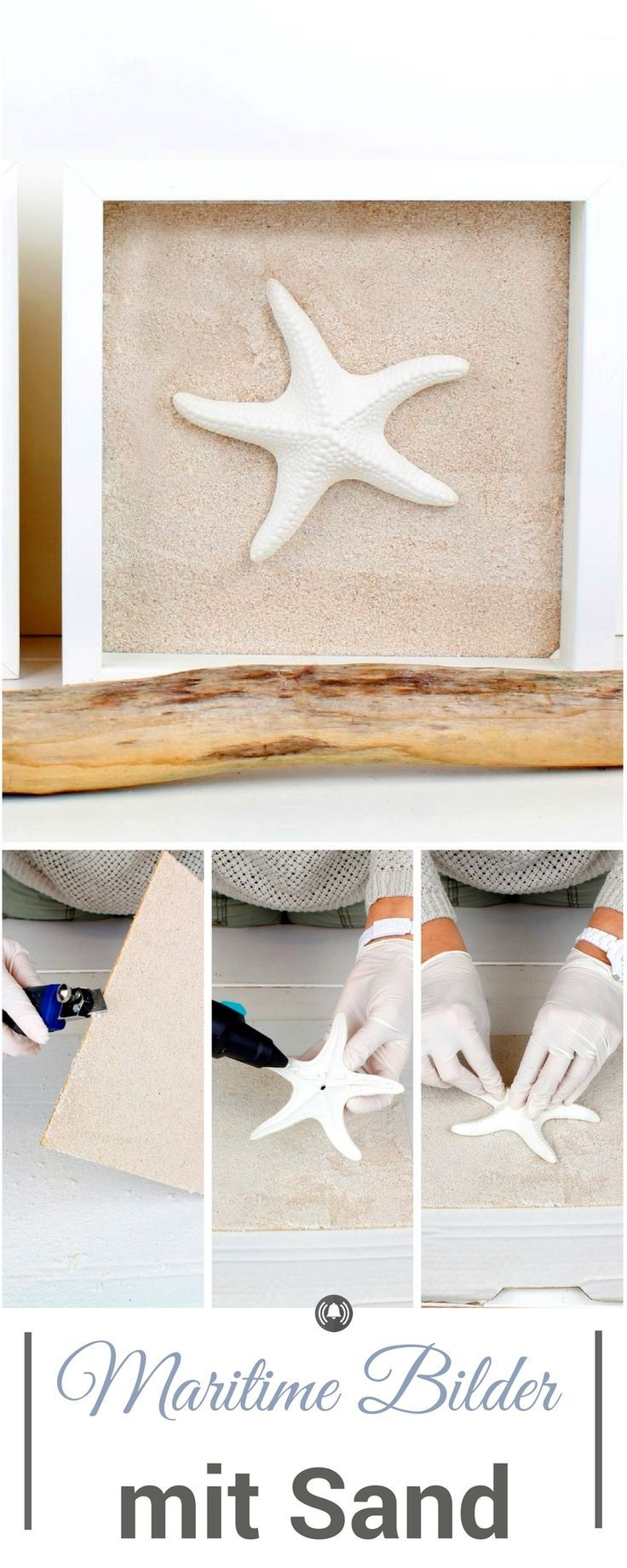 Ikea-Hack: Maritime Bilder mit Sand mit dem Ribba Bilderrahmen