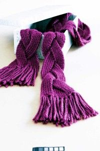 Braided Knitted Scarf