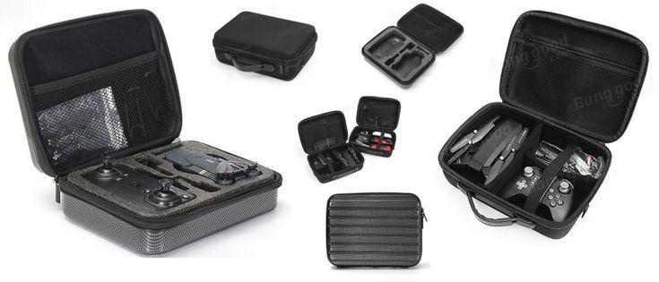 Cases for Eachine E58 and other small drones. Storage Box Handbag for Eachine E58 quadcopter. Hard Shell Waterproof Carrying Case for Eachine E58, E50, E52, E55, E010, E010S, E013 and VISUO XS809HW drones.