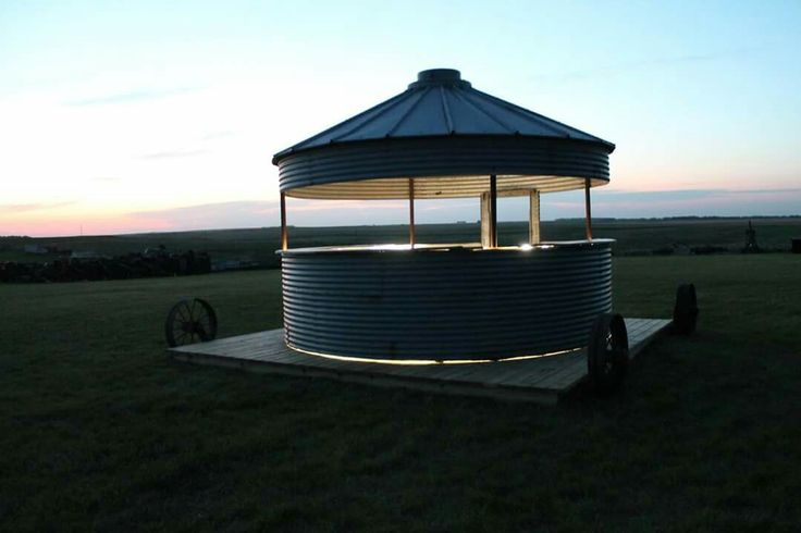 14 best images about grain bin bars on pinterest summer kitchen grain silo and tack rooms for How to build a grain bin swimming pool