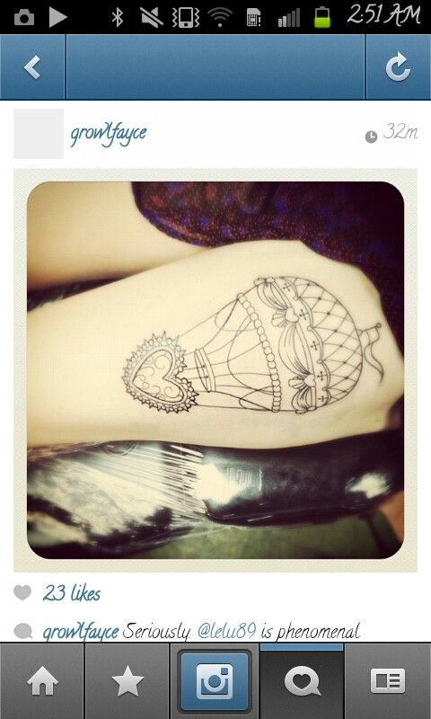 Love everything about this!!! Hot air balloon tattoo