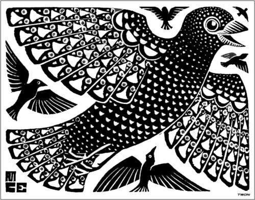 M.C. Escher - Uccelli - 1926