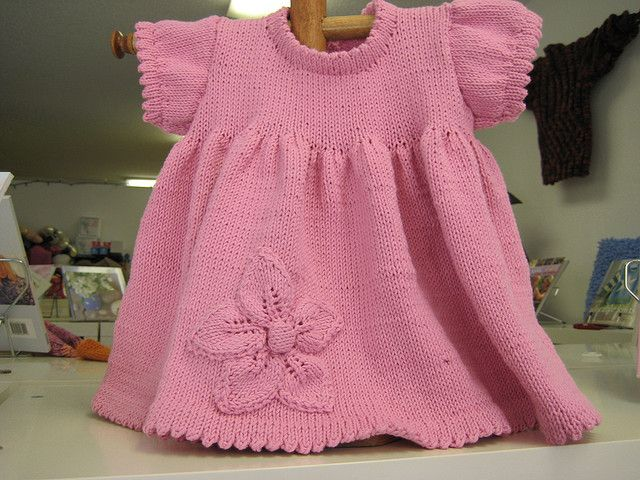 Ravelry: Baby Dress with Flower pattern by Sandnes Design