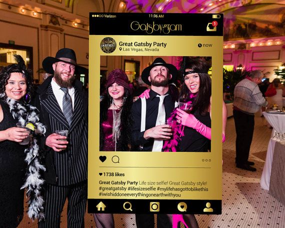 Great Gatsby Party Instagram Prop Digital File Photo by Framesta