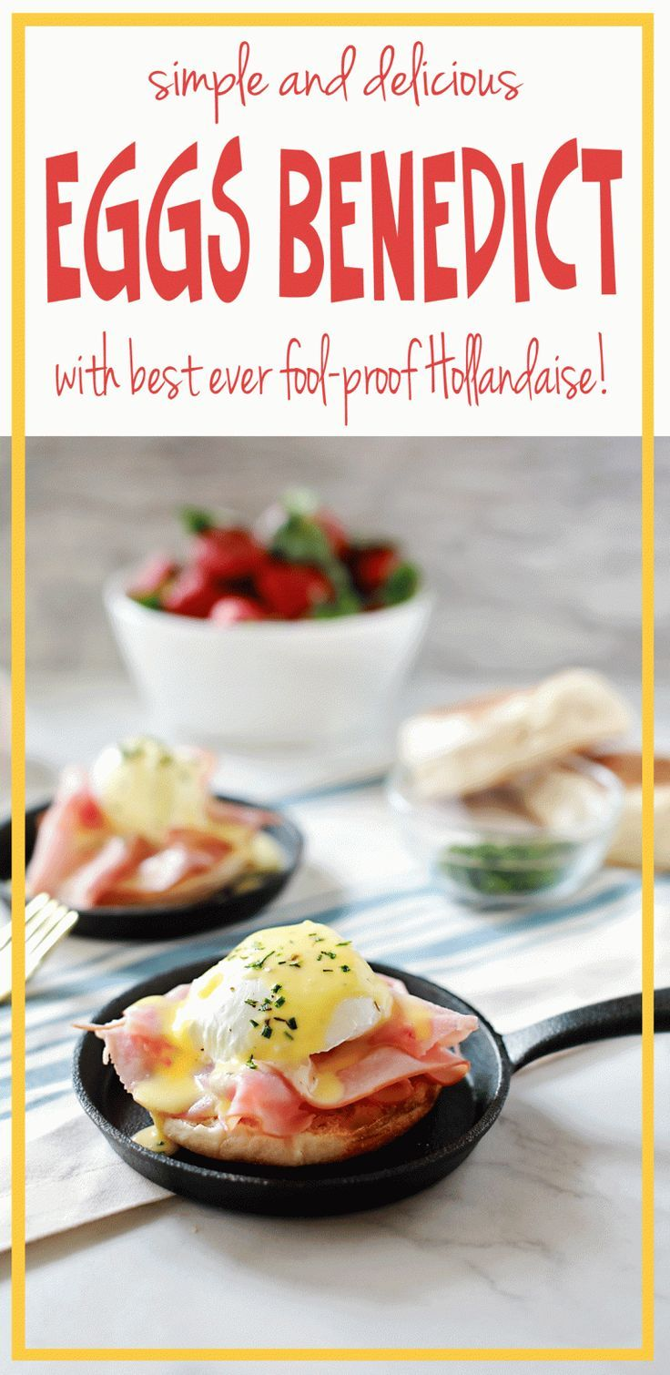 Best EVER Eggs Benedict with Fool Proof blender Hollandaise sauce. AMazing recipe by Flirting with Flavor!
