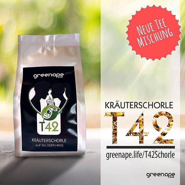 Heiße Mischung aus Kräutern ... Unsere  Kräuterschorle #tee #kräuter #lemongras #zitrone #ingwer #nanaminze greenape.life/T42Schorle #greenape #makesyourlifebetter #t42 #teafortwo