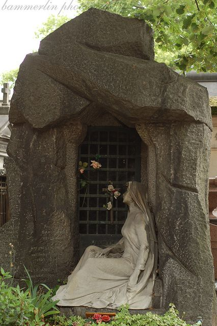 Père Lachaise Cemetery. Even the cemeteries are filled with beautiful works of art in Paris. http://www.thefuneralsource.org/cemeurope.html