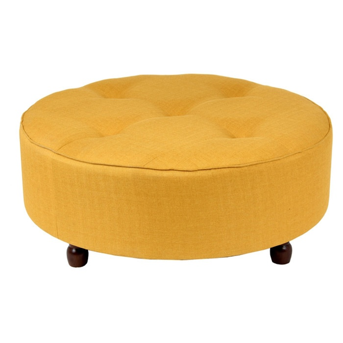 Apricot Round Cocktail Ottoman Coffee Tables Cocktail
