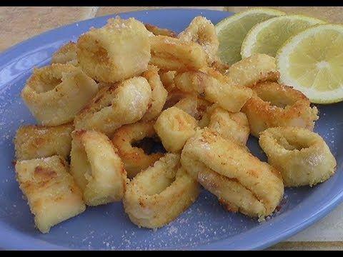 Anelli di calamari fritti (al forno)