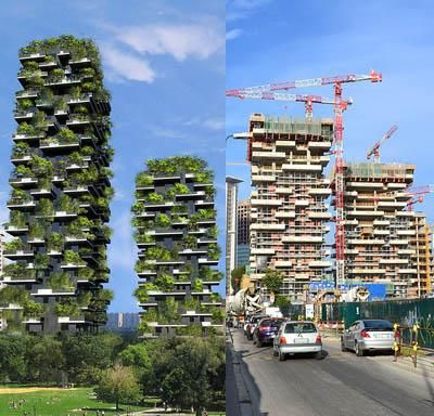 A towering forest in the middle of an urban landscape? Bosco Verticale is now under construction!