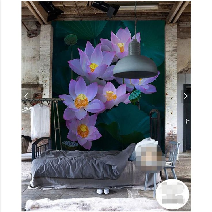 wall paper 3d art mural HD pink lotus Europe relief wall covering Home Decor Modern Wall Painting For Living Room wallpaper