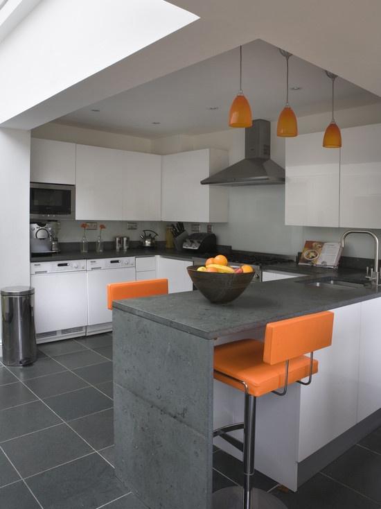 Kitchen Orange Accents