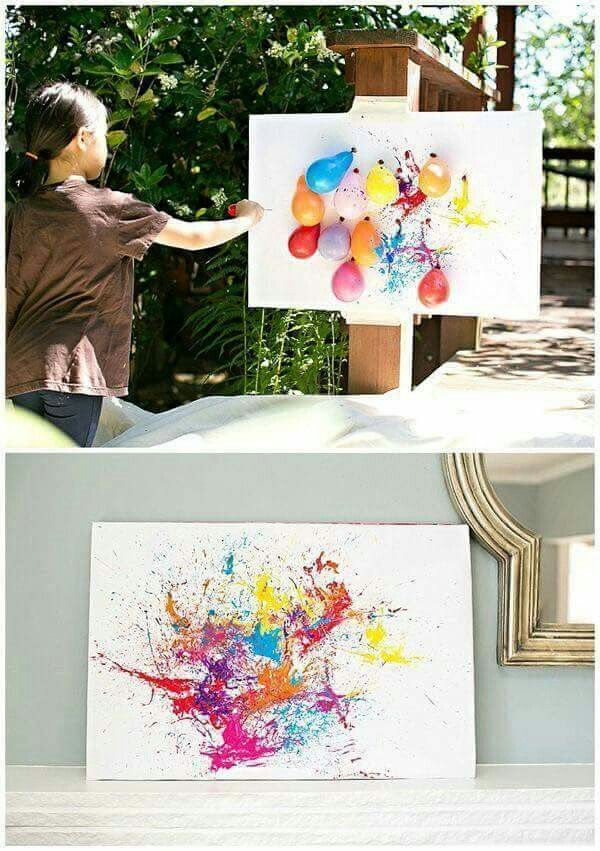 balloon dart painting