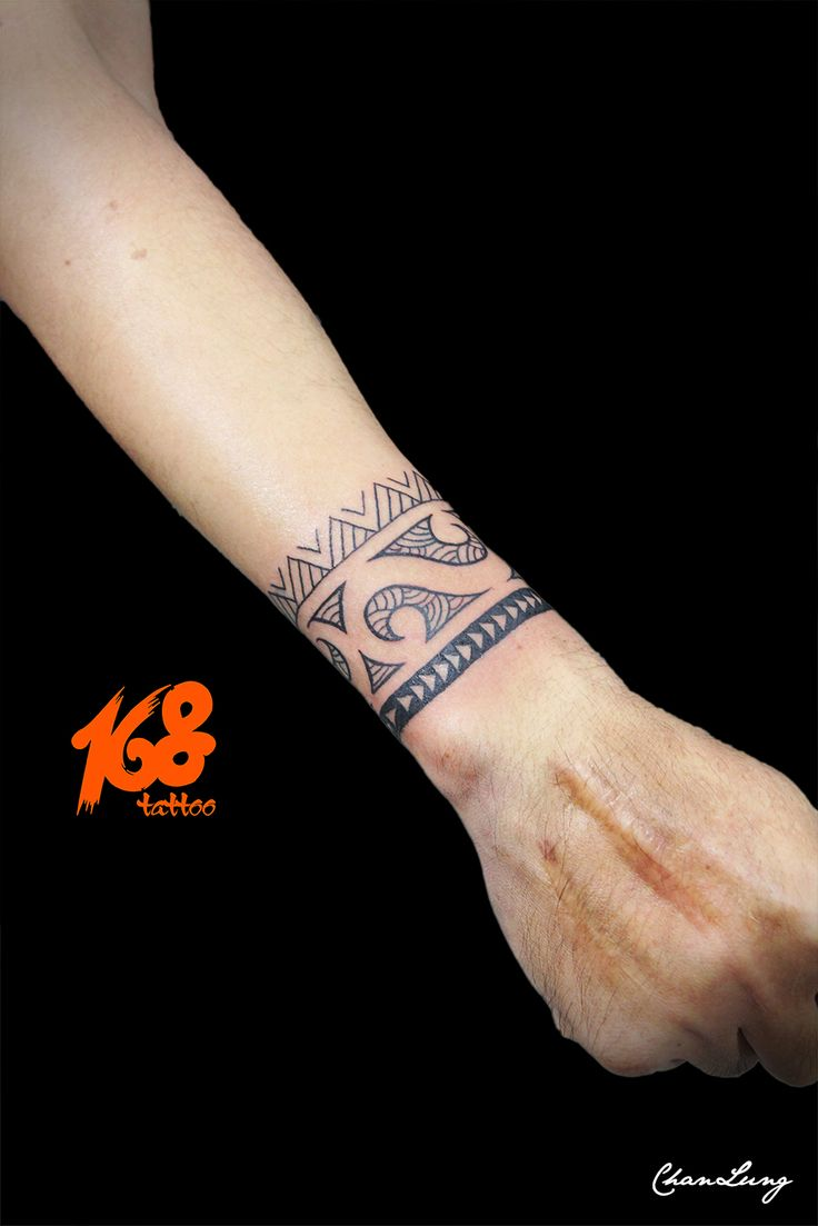 polynesian arm band tattoo
