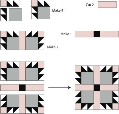 Follow These Easy Instructions to Make Bear's Paw Quilt Blocks: How to Make a Bear's Paw Quilt Block