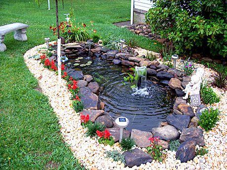 Backyard pond kits woodworking projects plans for Making a fish pond