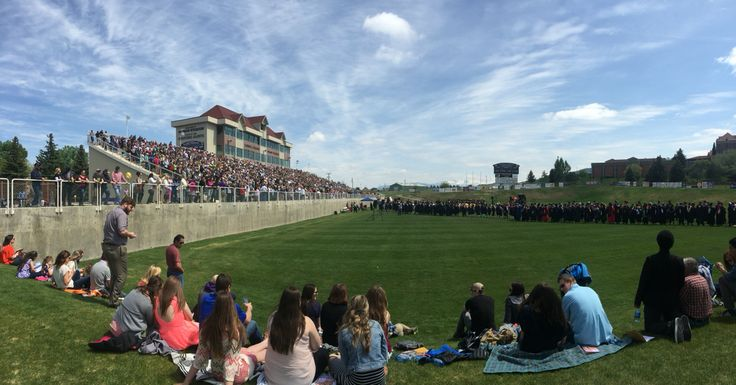 Carroll College Commencement May 2016 Nelson Stadium