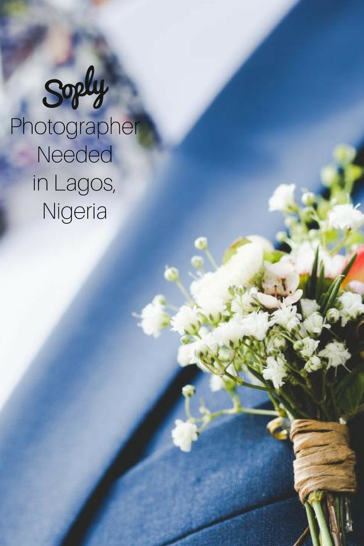 #Photographer needed for a #wedding in Lagos, Nigeria on June 30th. See the photography job and apply by clicking the pin!