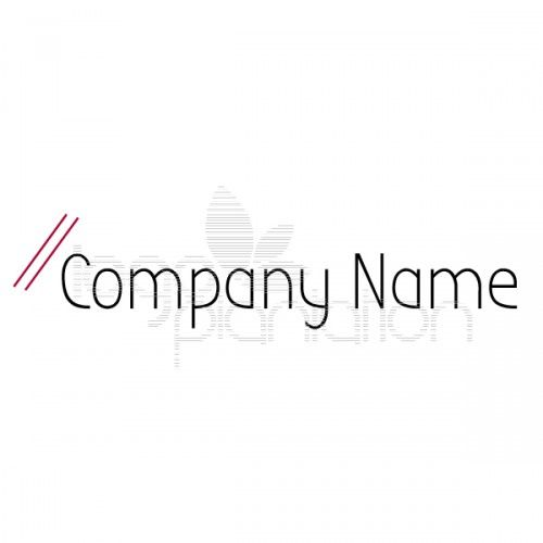 This logo is of a two parallel forward slashes. Located on the right above the company name. The logo is supplied with Open Source Google Fonts. The file formats provided are JPG and EPS. See more at http://www.logoplantation.com/shop/two-forward-slashes/
