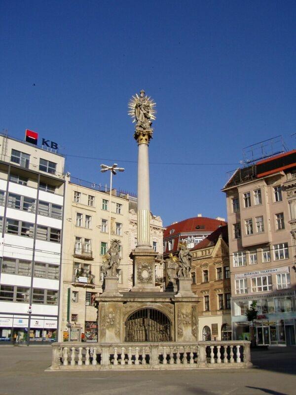 Freedom Square - plague Column  (Nám.Svobody - morový sloup)