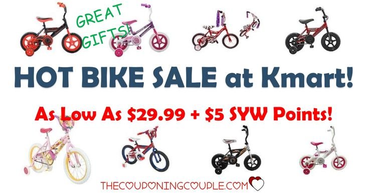Look at this! A HOT Kids Bike Sale! As low as $29.99 plus get a BONUS $5.00 in Shop Your Way points! Lots of gift ideas!  Click the link below to get all of the details ► http://www.thecouponingcouple.com/kids-bike-sale-as-low-as-29-99-5-in-syw-points/ #Coupons #Couponing #CouponCommunity  Visit us at http://www.thecouponingcouple.com for more great posts!