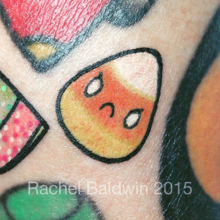 409 best cutesy tootsie tattoos images on pinterest for Candy corn tattoo