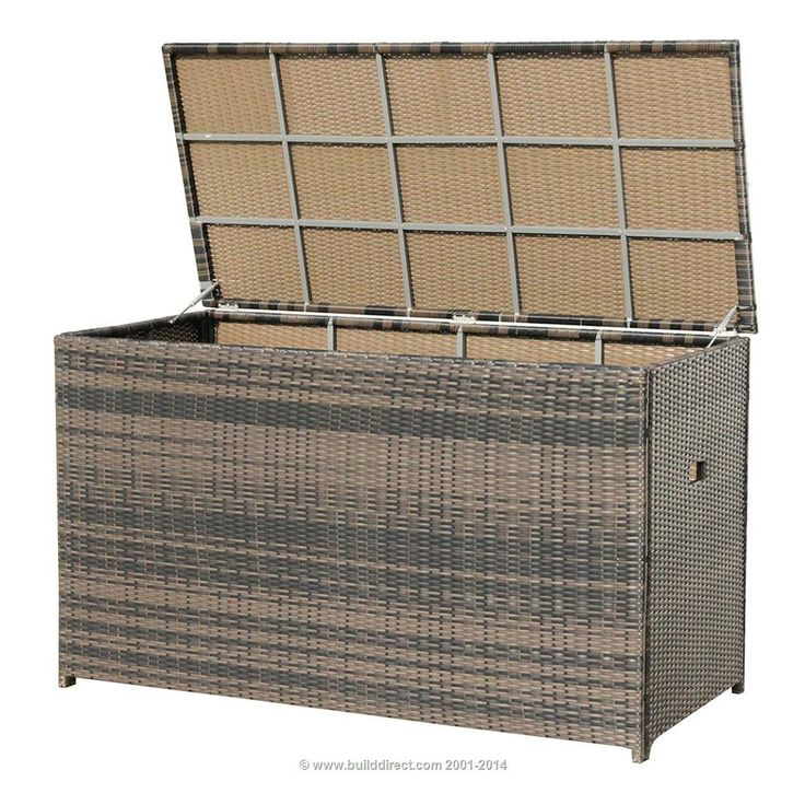 Wicker Chocolate Weave Cushion Box for your Patio Furniture Storage. #PinandWinforMom  @BuildDirect
