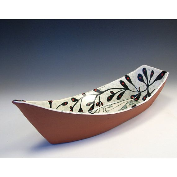 Clay Dory Love In The Boat Ceramic Boat Original by jennymendes $265.00