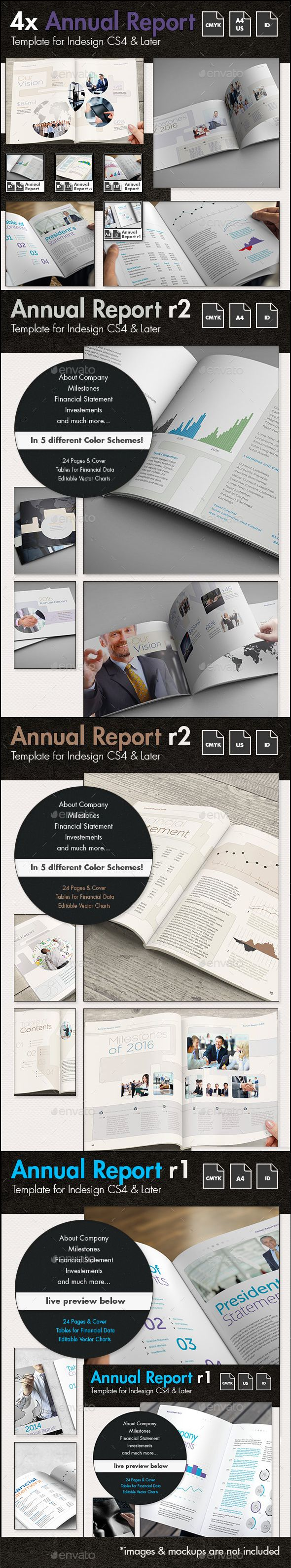 Annual Report Template Bundle