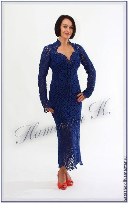 """Платье """"Соблазн"""" с рукавами - авторская работа,авторское платье,вязаное платье"""