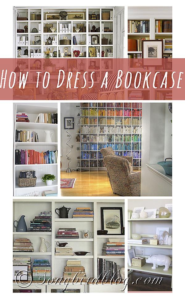 Dressing up a bookcase can be a bit daunting. So let me share the tips and tricks I found while researching how to dress a bookcase. www.songbirdblog.com