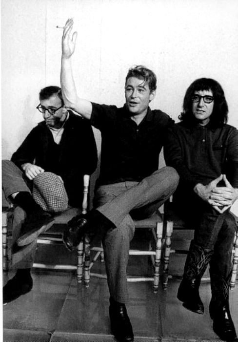 Woody Allen, Peter O'Toole and Peter Sellers. Woody looks a bit worried...