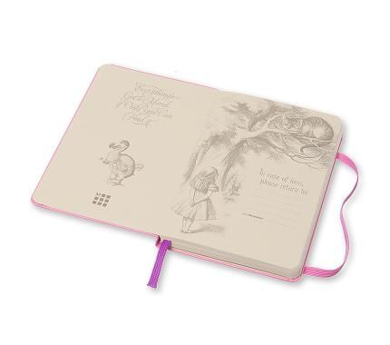 Limited Edition Notebook Alice Ruled Pocket Hard Cover Pink Magenta