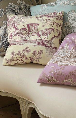 French Flair ● Decor, Lavender Toile Pillows