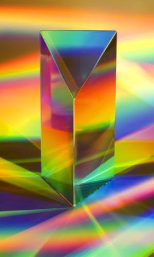 Prisma descomposición de la luz
