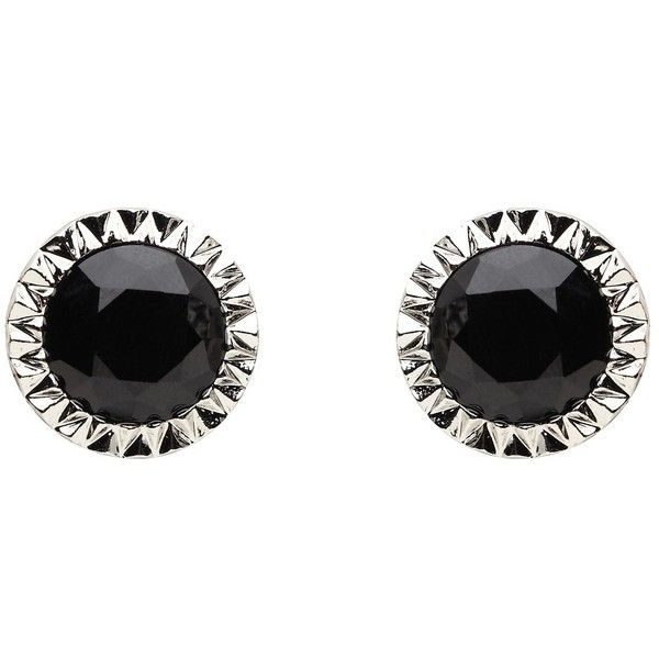 Mimco Facet Bezel Stud Ear ($63) found on Polyvore