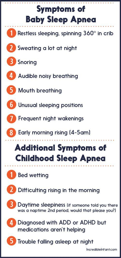 Signs and symptoms that your child could be struggling with sleep apnea ~ Incredible Infant